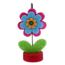 Pinza portanotas flor